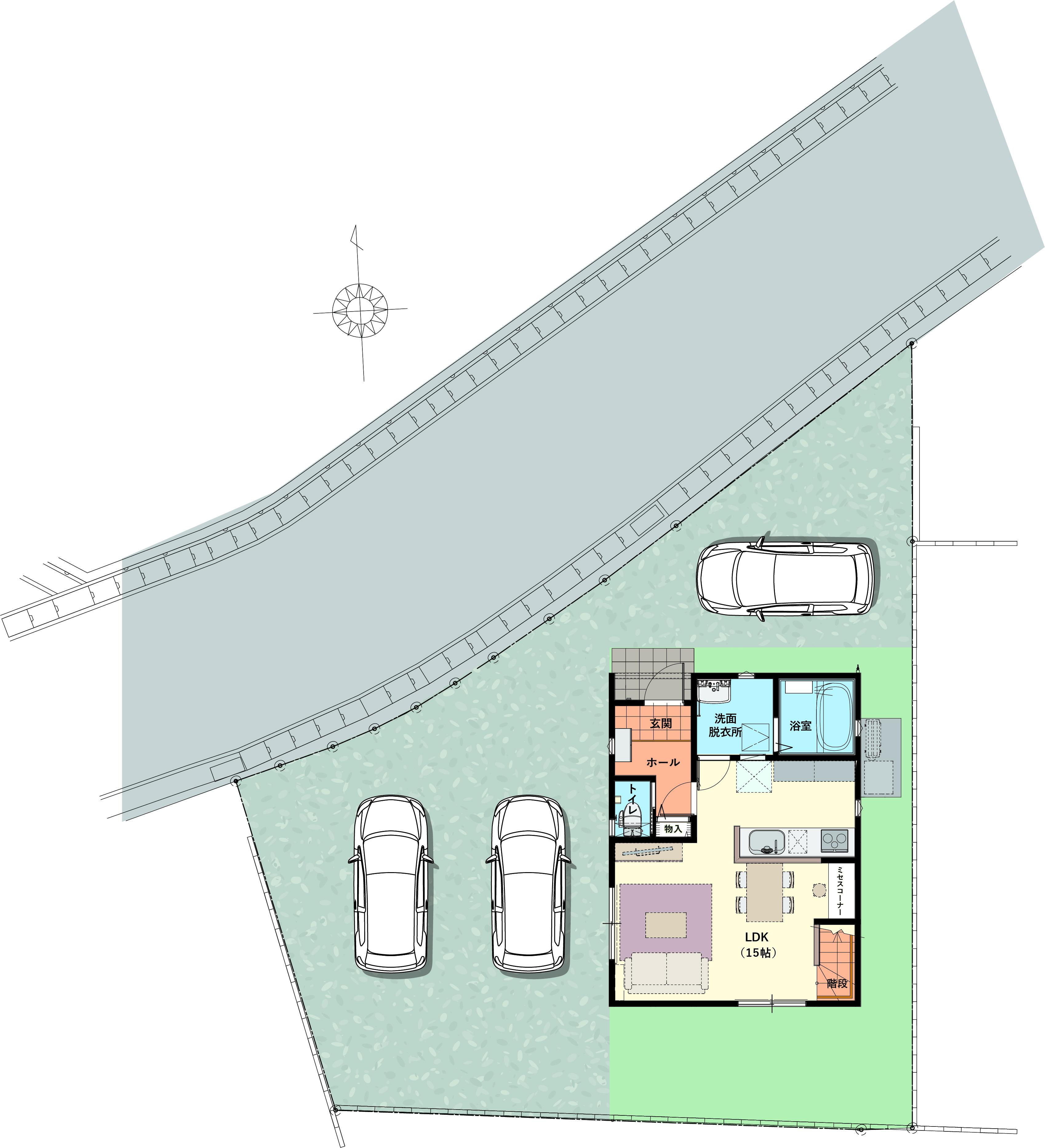 駐車スペース3台♪