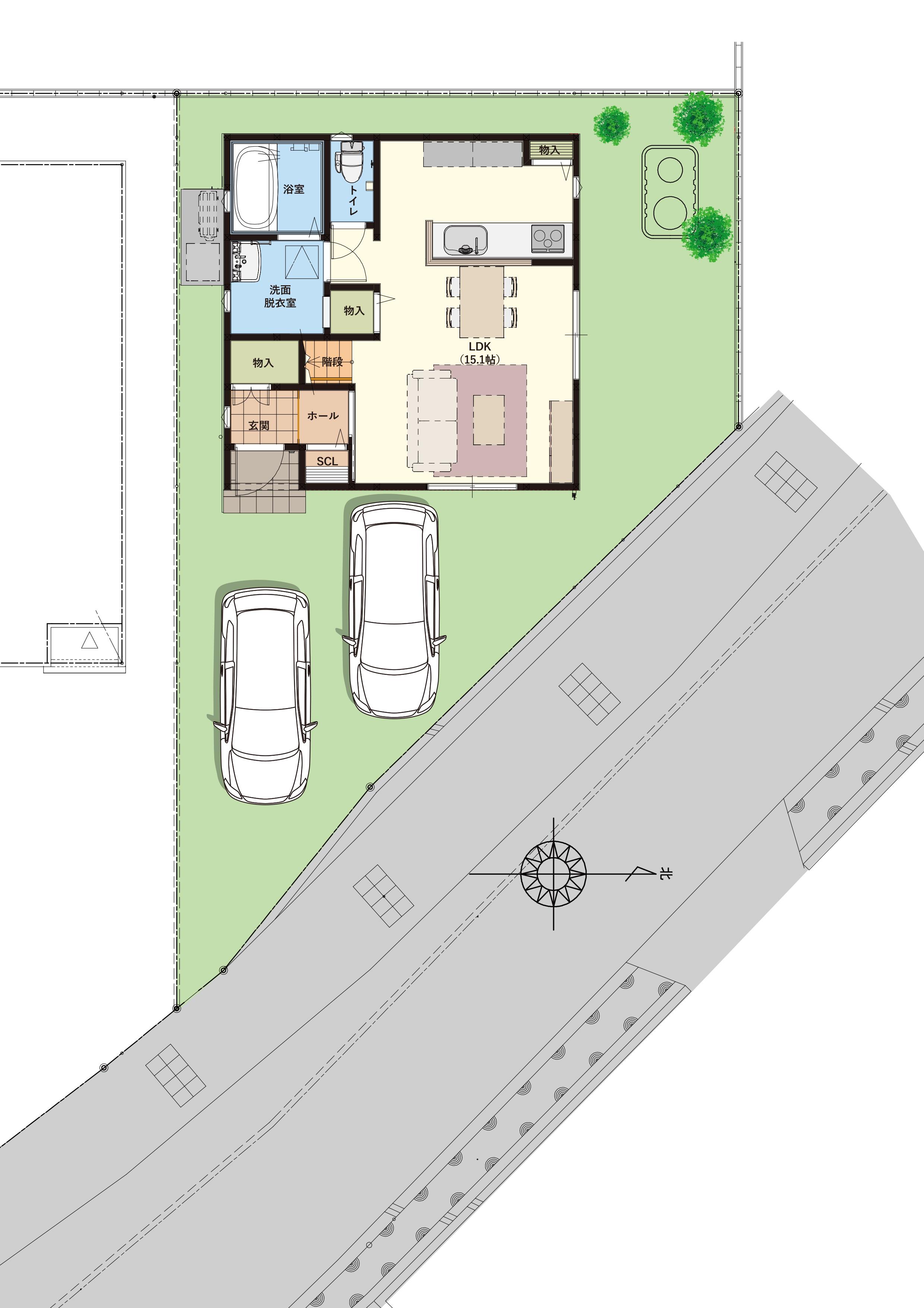 駐車3台可能!※画像はイメージです。